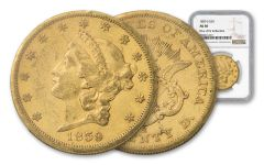 1859-S 20 Dollar Liberty NGC AU50 Rive D'OR