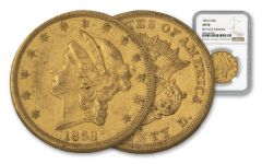 1863-S 20 Dollar Liberty NGC AU50 Rive D'OR