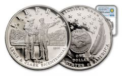 2004-P 1 Dollar Silver Lewis and Clark Proof NGC PF69 Smithsonian Coin Classics
