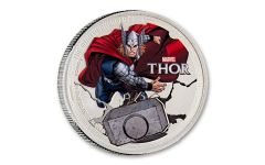 2014 Niue $2 1-oz Silver Avengers Thor Proof