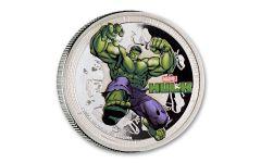 2014 Niue $2 1-oz Silver Avengers Hulk Proof