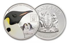 2016 Tanzania 100 Shillings World Wildlife Fund Penguin Proof-Like