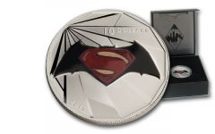 2016 Canada 10 Dollar 1/2-oz Silver Batman vs Superman Logo Matte Proof