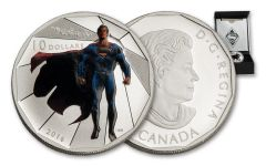 2016 Canada 10 Dollar 1/2-oz Silver Superman Matte Proof