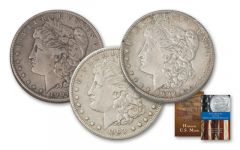 1902-1904-P Morgan Silver Dollar XF 3-Piece Set