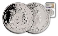 2016 Australia 1 Dollar 1-oz Silver Queen's 90th High Relief NGC PF70UCAM