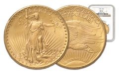 1908-1929 $20 Saint Gaudens NGC/PCGS MS62