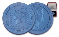 2015 Ascension Island 2 Pence Blue Stamp Uncirculated