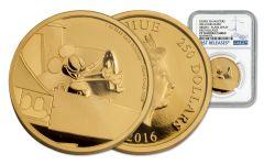 2016 Niue 250 Dollar 1-oz Gold Mickey Plan Crazy NGC PF70UCAM
