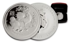 2017 Australia 1-oz Silver Year of the Rooster High Relief Proof