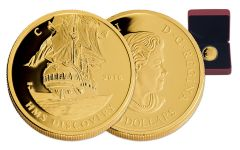 2016 Canada 200 Dollar 1-oz Gold HMS Discovery Ship Proof