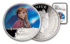 2016 Niue $2 1-oz Silver Frozen – Anna Proof NGC PF70UC