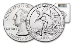 2016-P 25 Cent 5-oz Silver America the Beautiful Fort Moultrie NGC SP69 First Releases
