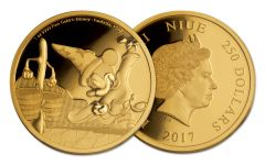 2017 Niue 250 Dollar 1-oz Gold Disney Mickey Fantasia Proof