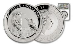 2017 Australia 1 Dollar 1-oz Silver Kookaburra NGC MS70