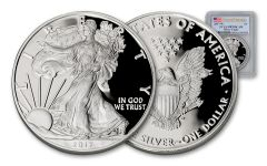 2017 1 Dollar 1-oz Silver Eagle Proof PCGS PR70DCAM First Strike