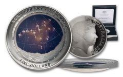 2016 Australia $5 1-oz Silver Northern Sky Ursa Major Colorized Dome Proof