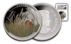2017 Canada 20 Dollar 1-oz Silver Prong Antelope NGC ER PF70 UC