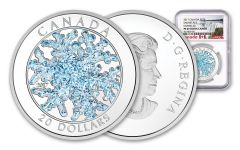 2017 Canada 1 Ounce $20 Silver Snowflake NGC PF69UC