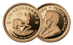 2017 South Africa 1/10-oz Gold Krugerrand Proof