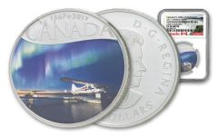 2017 Canada 1/2-oz Silver Mackenzie River Float Planes Colorized NGC PF70 Matte Early Releases - Canada's 150th Anniversary Label