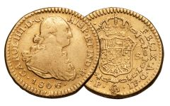 1772-1821 Spain Gold 1 Escudo NGC VF
