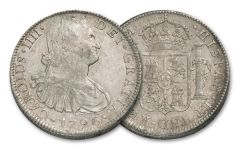 1789-1797 Spain 8 Reales Silver Fine George Washington