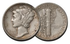 1945-S 10 Cent Mercury Dime Micro
