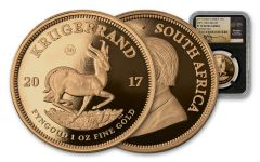 2017 South Africa 1-oz Gold Krugerrand NGC PF70UCAM First Releases Tumi Tsehlo Signature - Black