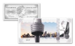Cook Island 5g Silver Sydney Skyline Dollar Proof-Like