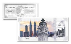 Cook Island 5g Silver Kaula Skyline Dollar Proof-Like