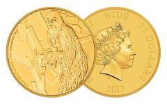 2017 Niue 25 Dollar 1/4-oz Gold Star Wars Classic Chewbacca Proof