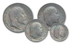 1903 Great Britain Silver King Edward VII Maundy Set PCGS MS66PL-MS67PL