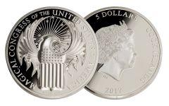 2017 Cook Islands 5 Dollar 1-oz Silver Fantastic Beasts Proof