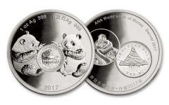 2017 China 1-oz Silver Denver Ana Show Panda Proof