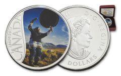 2017 Canada 10 Dollar Silver Drum Dancing Matte Proof