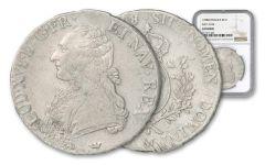 1775-1791 France Silver Ecu of Louis XVI D'or NGC Genuine