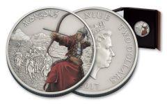 2017 Niue 2 Dollar 1-oz Silver Warriors of History Proof- Mongols