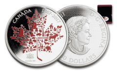 2017 Canada 50 Dollar 5-oz Silver Canadian Icon Proof