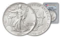 1987 1 Dollar 1-oz Silver Eagle PCGS MS70 First Strike