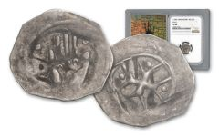 1300-1400 Austria Silver Hall Hand Heller NGC XF40