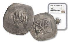 1300-1400 Austria Silver Hall Hand Heller NGC XF45