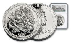 2017 Isle Of Man 2-oz Silver Angel NGC PF70 Early Releases