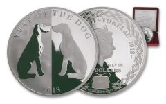 2018 Tokelau $5 One-Ounce Silver Year of the Dog Mirror Proof