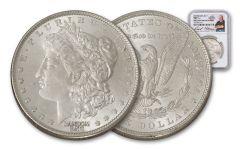 Morgan Silver Dollar NGC BU Denver ANA Rick Harrison Signed