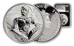2017 Niue 1-oz Silver Star Wars Classic C-3PO NGC PF69UCAM First Struck - Black