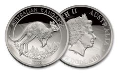 2017 Australia 8 Dollar 5-oz Silver Kangaroo High Relief Proof