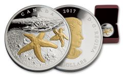 2017 Canada 20 Dollar 1-oz Silver Atlantic Starfish Proof