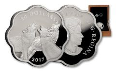 2017 Canada 20 Dollar Silver The Timber Wolf Master of the Land Proof