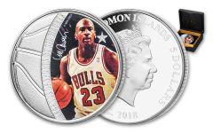 2018 Solomon Islands 5 Dollar 1-oz Silver Michael Jordan Colored Proof